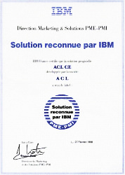 Solution reconnue par IBM